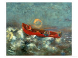 The Red Boat, 1905 Giclee Print by Odilon Redon