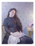 The Sleeping Flower Girl, 1892 Giclee Print by Eugene Assezat de Bouteyre
