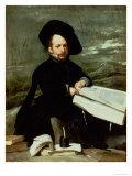 Court Jester, El Primo Giclee Print by Diego Velázquez