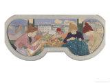 Three Women Working Reproduction procédé giclée par Théophile Alexandre Steinlen