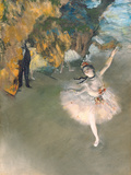The Star, or Dancer on the Stage, circa 1876-77 Giclee-trykk av Edgar Degas