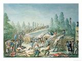 Transporting Corpses During the Revolution, circa 1790 Giclee Print by Etienne Bericourt
