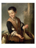 Boy with a Dog, circa 1650 Premium Giclee Print by Bartolome Esteban Murillo
