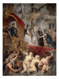 The Arrival of Marie De Medici (1573-1642) in Marseilles, 3rd November 1600, 1621-25 Giclee Print by Peter Paul Rubens