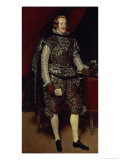 Philip IV of Spain in Brown and Silver, circa 1631-2 Giclee Print by Diego Velázquez