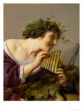 Pan Playing His Pipes Giclee Print by Paulus Moreelse