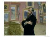 Portrait of Pavel Tretyakov (1832-98) in the Gallery, 1901 Giclee Print by Ilya Efimovich Repin