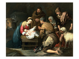 The Adoration of the Shepherds, C.1650 (Oil on Canvas) Giclee Print by Bartolome Esteban Murillo