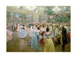 Salle de bal au Hofburg,1900 Reproduction procédé giclée par Wilhelm Gause