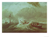 The Lifeboat off Tynemouth Bay Giclee Print by Edward Duncan
