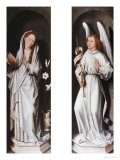 The Annunciation (Two Exterior Panels of a Triptych), circa 1472 Giclée-tryk af Hans Memling