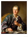 Portrait of Denis Diderot (1713-84) 1767 Giclee Print by Louis-Michel van Loo