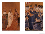 Richard II Presented to the Virgin and Child by His Patron Saint John the Baptist Giclee Print by  Master of the Wilton Diptych