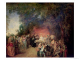 The Marriage Contract, circa 1712-13 Giclee Print by Jean Antoine Watteau