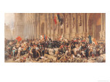 Lamartine Rejects the Red Flag in 1848 Giclee Print by Felix Philippoteaux