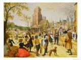 A Village Kermesse Giclee Print by Sebastian Vrancx