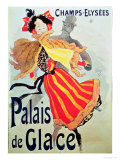 Ice Palace, Champs Elysees, Paris, 1893 Giclee-trykk av Jules Chéret