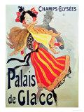 Ice Palace, Champs Elysees, Paris, 1893 Giclée-Druck von Jules Chéret