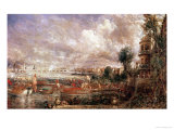 The Opening of Waterloo Bridge, Whitehall Stairs, 18th June 1817 Giclee Print by John Constable