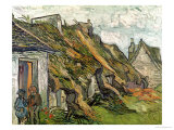 Thatched Cottages in Chaponval, Auvers-Sur-Oise, c.1890 Giclee Print by Vincent van Gogh
