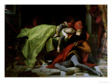 Death of Francesca Da Rimini and Paolo Malatesta, 1870 Giclee Print by Alexandre Cabanel