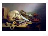 A Vanitas Still Life Reproduction proc&#233;d&#233; gicl&#233;e par Pieter Claesz