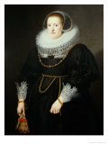 Portrait of a Girl, Aged 18 Giclee Print by Michiel Jansz. van Miereveld