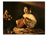 The Lute Player, c.1595 Giclée-tryk af Caravaggio