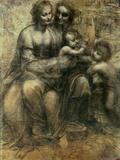 Leonardo da Vinci - The Virgin and Child with Ss. Anne and John the Baptist, circa 1499 Digitálně vytištěná reprodukce