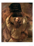 Moses Smashing the Tablets of the Law, 1659 Premium Giclee Print by  Rembrandt van Rijn