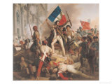 Fighting at the Hotel De Ville, 28th July 1830, 1833 Giclee Print by Jean Victor Schnetz