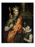 St. Louis (1215-70) and His Page, circa 1585-90 Giclee Print by  El Greco