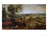 An Autumn Landscape with a View of Het Steen in the Early Morning, circa 1636 Giclee Print by Peter Paul Rubens