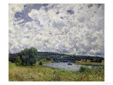 The Seine at Suresnes, 1877 Giclee Print by Alfred Sisley