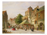 A Street Scene in Amsterdam Giclee Print by Adrianus Eversen