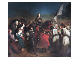 The Entry of Joan of Arc (1412-31) into Orleans, 8th May 1429, 1843 Giclee Print by Henry Scheffer