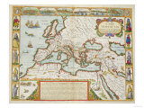 A Map of the New Roman Empire, circa 1610 by John Speed (1552-1629) Giclee Print
