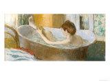 Woman in Her Bath, Sponging Her Leg, circa 1883 Giclée-trykk av Edgar Degas
