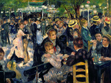 Ball at the Moulin De La Galette, 1876 Lmina gicle por Pierre-Auguste Renoir