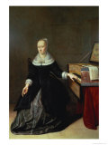 Woman by a Virginal Giclee Print by Godaert Kamper