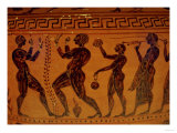 Etruscan Vase Showing Boxers Fighting, circa 500 BC Giclee Print