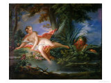 The Bather Surprised Reproduction proc&#233;d&#233; gicl&#233;e par Francois Boucher