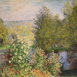 A Corner of the Garden at Montgeron, 1876-7 Reproduction procédé giclée par Claude Monet