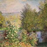 A Corner of the Garden at Montgeron, 1876-7 Giclée-trykk av Claude Monet