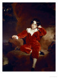 Master Charles William Lambton, 1825 Premium Giclee Print by Thomas Lawrence