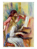 Young Girls at the Piano, circa 1890 Reproduction proc&#233;d&#233; gicl&#233;e par Pierre-Auguste Renoir