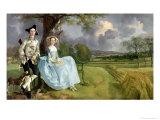 Mr. og Mrs. Andrews, ca. 1748-9 Giclee-trykk av Gainsborough, Thomas