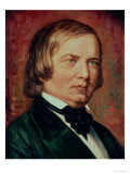 Portrait of Robert Schumann (1810-1856), Giclee Print