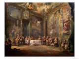 Charles III (1716-88) De Bourbon, Lunching Before His Court, circa 1770 Giclee Print by Luis Paret y Alcazar