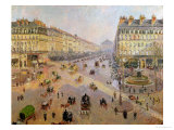The Avenue De L'Opera, Paris, circa 1880 Giclee Print by Camille Pissarro